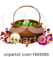 August 15th, 2018: Clipart Of A Halloween Cauldron Royalty Free Vector Illustration by Vector Tradition SM