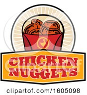 Clipart Of A Container Of Chicken Nuggets Royalty Free Vector Illustration