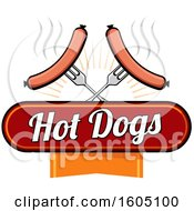 Poster, Art Print Of Hot Dogs On Crossed Forks