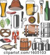 Poster, Art Print Of Beer Elements