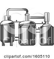 Clipart Of A Beer Distiller Royalty Free Vector Illustration