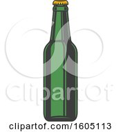 August 15th, 2018: Clipart Of A Beer Bottle Royalty Free Vector Illustration by Vector Tradition SM