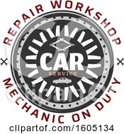 Poster, Art Print Of Car Service Repair Workshop Design
