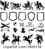 Poster, Art Print Of Heraldic Design Elements