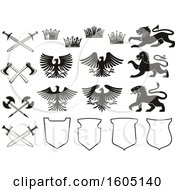 Clipart Of Heraldic Design Elements Royalty Free Vector Illustration