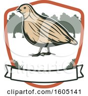 Poster, Art Print Of Quail In A Shield