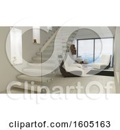 Clipart Of A 3d Room Interior Royalty Free Illustration by KJ Pargeter