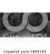3D Geometric Abstract Cuboid Background