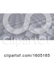 Clipart Of A 3d Hexagonal Background Royalty Free Illustration by KJ Pargeter