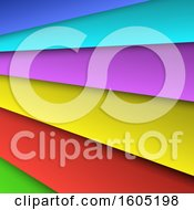 Clipart Of A Layered Colorful Background Royalty Free Vector Illustration