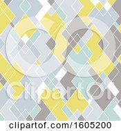 Clipart Of A Geometric Diamond Patterned Background Royalty Free Vector Illustration