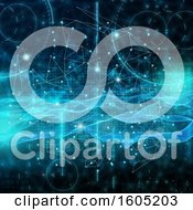 Clipart Of A Wave And Networking Background Royalty Free Illustration