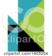 Clipart Of A Green Blue Black And White Geometric Background Royalty Free Vector Illustration