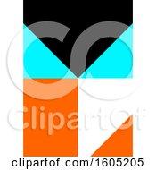 Black Blue Orange And White Geometric Background