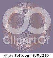 Poster, Art Print Of Fancy Golden Mandala On Purple