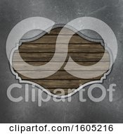 Wooden Frame And Metal Background