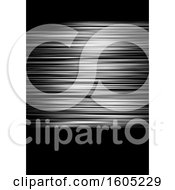 Clipart Of A Silver Streak And Black Background Royalty Free Vector Illustration