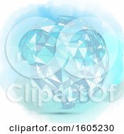 Clipart Of A Watercolor Geometric Sphere With Connections Royalty Free Vector Illustration by KJ Pargeter