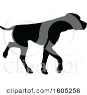 Black Silhouetted Labrador Dog