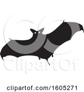 Clipart Of A Flying Halloween Vampire Bat Royalty Free Vector Illustration