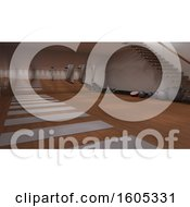 Clipart Of A 3d Gym Room Interior Royalty Free Illustration