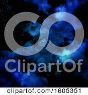 Clipart Of A Nebula Night Sky Background Royalty Free Illustration