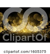 Clipart Of A Gold Glitter And Flare Background Royalty Free Vector Illustration