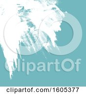 Clipart Of A White And Blue Paint Background Royalty Free Vector Illustration