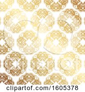 Clipart Of A Golden Ornate Pattern Royalty Free Vector Illustration