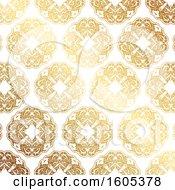 Poster, Art Print Of Golden Ornate Pattern