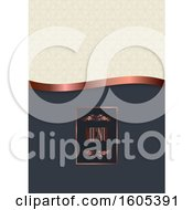 Clipart Of A Luxury Menu With An Elegant Design Royalty Free Vector Illustration