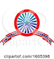 Clipart Of A Patriotic American Design Royalty Free Vector Illustration by Vector Tradition SM