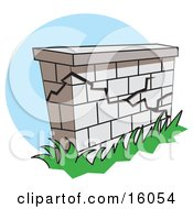 Crumbling Wall Clipart Illustration