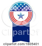 Clipart Of A Patriotic American Design Royalty Free Vector Illustration