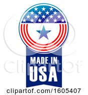 Clipart Of A Made In Usa Design Royalty Free Vector Illustration