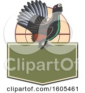 Clipart Of A Bird Over A Blank Shield Royalty Free Vector Illustration by Vector Tradition SM