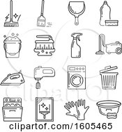 Clipart Of Household Icons Royalty Free Vector Illustration