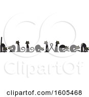 Clipart Of Black Cats Forming Letters In The Word Halloween Royalty Free Vector Illustration
