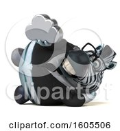 Clipart Of A 3d Business Zebra Holding A Cloud On A White Background Royalty Free Illustration