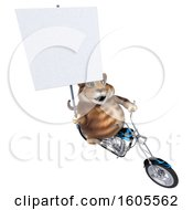 Clipart Of A 3d Tabby Kitty Cat Biker Riding A Motorcycle On A White Background Royalty Free Illustration by Julos