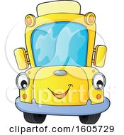 Clipart Of A Happy Yellow School Bus Royalty Free Vector Illustration by visekart