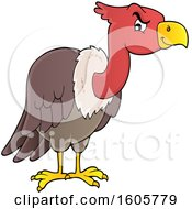 Clipart Of A Vulture Bird Royalty Free Vector Illustration by visekart