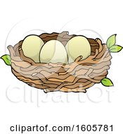 Poster, Art Print Of Bird Nest With Eggs