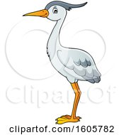 Clipart Of A Heron Bird Royalty Free Vector Illustration by visekart