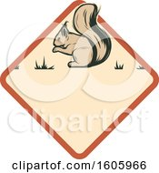 Clipart Of A Squirrel Hunting Design Royalty Free Vector Illustration by Vector Tradition SM