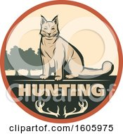 Clipart Of A Lynx Hunting Design Royalty Free Vector Illustration