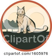 Clipart Of A Lynx Hunting Design Royalty Free Vector Illustration by Vector Tradition SM
