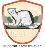 Clipart Of A Weasel Design In A Shield Royalty Free Vector Illustration by Vector Tradition SM