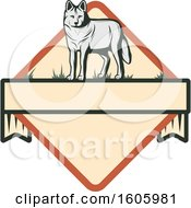 Clipart Of A Wolf In A Diamond Royalty Free Vector Illustration by Vector Tradition SM