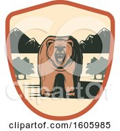 Clipart Of A Bear Design Royalty Free Vector Illustration by Vector Tradition SM